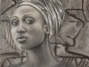 African Woman ~ 25x19